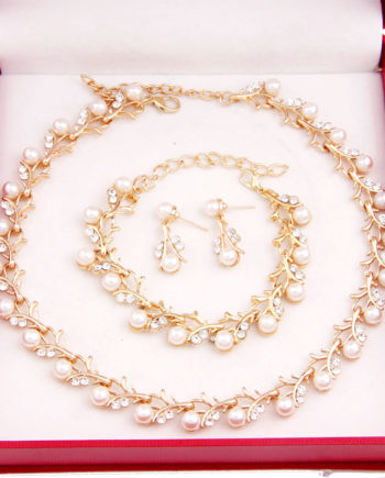 Hot Worldwide Imitation Pearl Simple Elegant Bridal Jewelry Sets Kit Gift Fast Free Shipping New Hot Selling