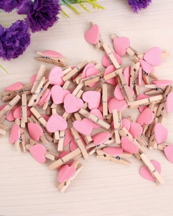 50pcs Mini Love Heart Wooden Clothespin Pinza de madera Clothespin bois Craft Clips DIY Clothes Photo Paper Peg Clothespin -OH