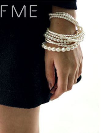 IF ME Bohemian Bead Imitation Pearl Multilayer Charm Bracelet Statement Jewelry Women Wholesale Crystal Accessories Wrap Gift